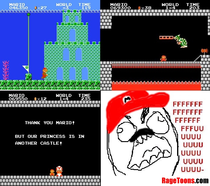 Mario Princess Rage