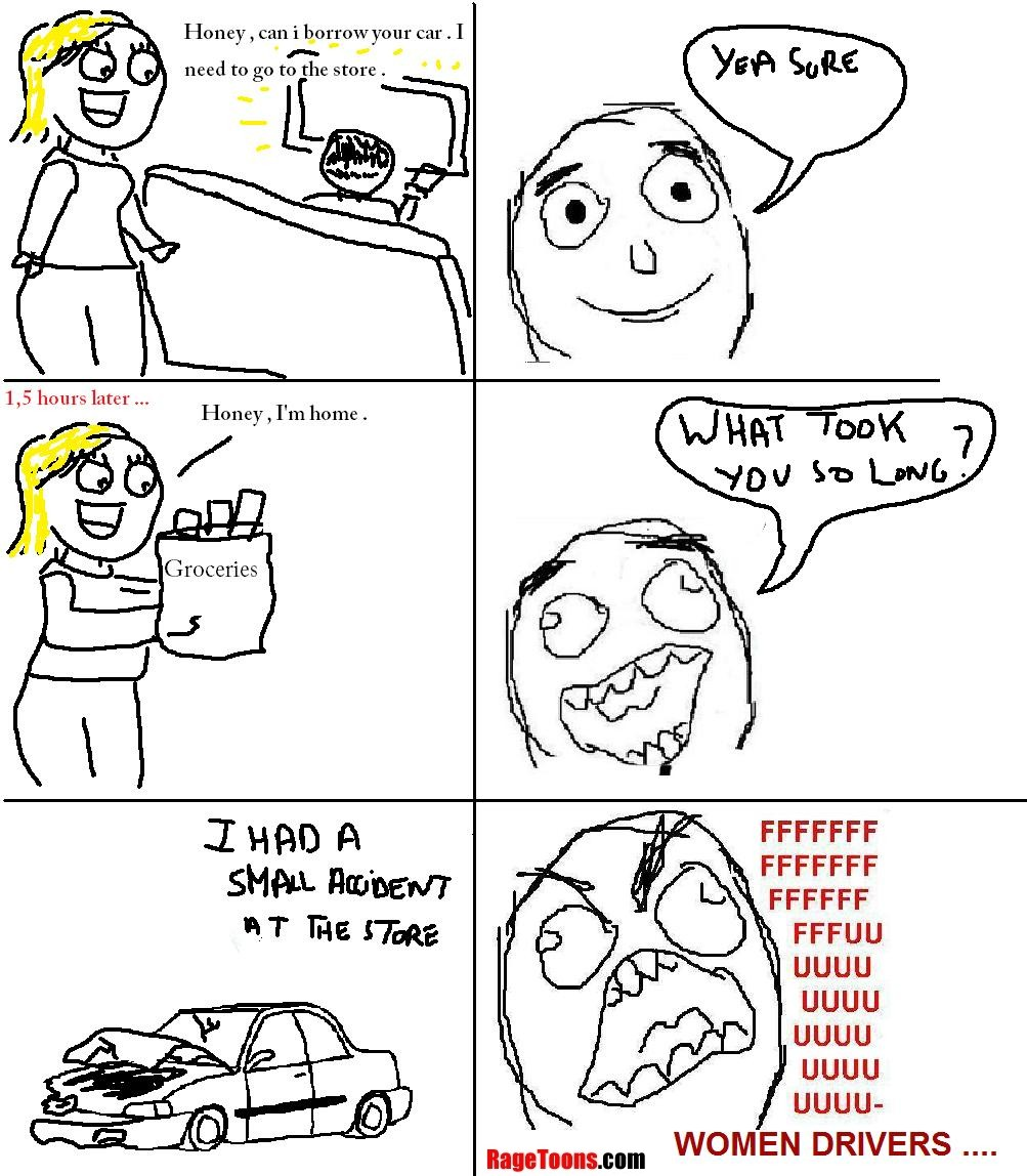 Female Driver Rage