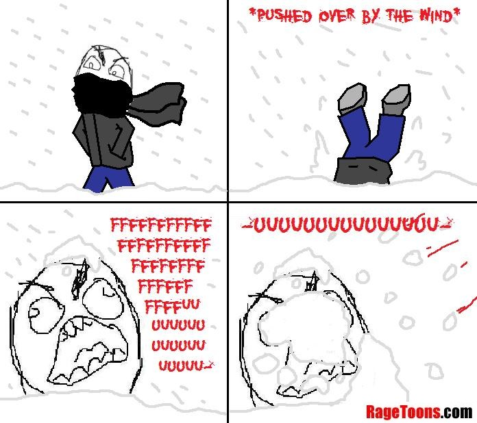 Strong Wind In Snow Rage