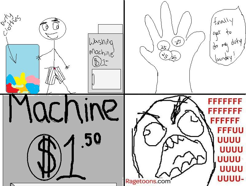 Laundry Machine Rage