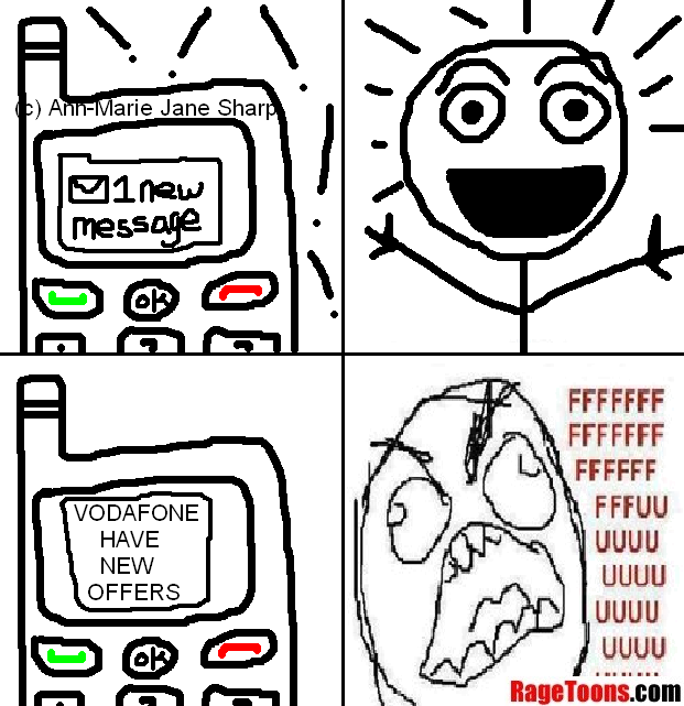 Mobile Phone SMS Ads Rage