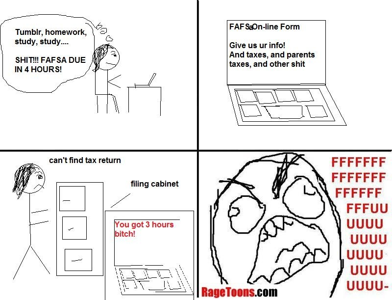 Federal Student Aid Application Rage