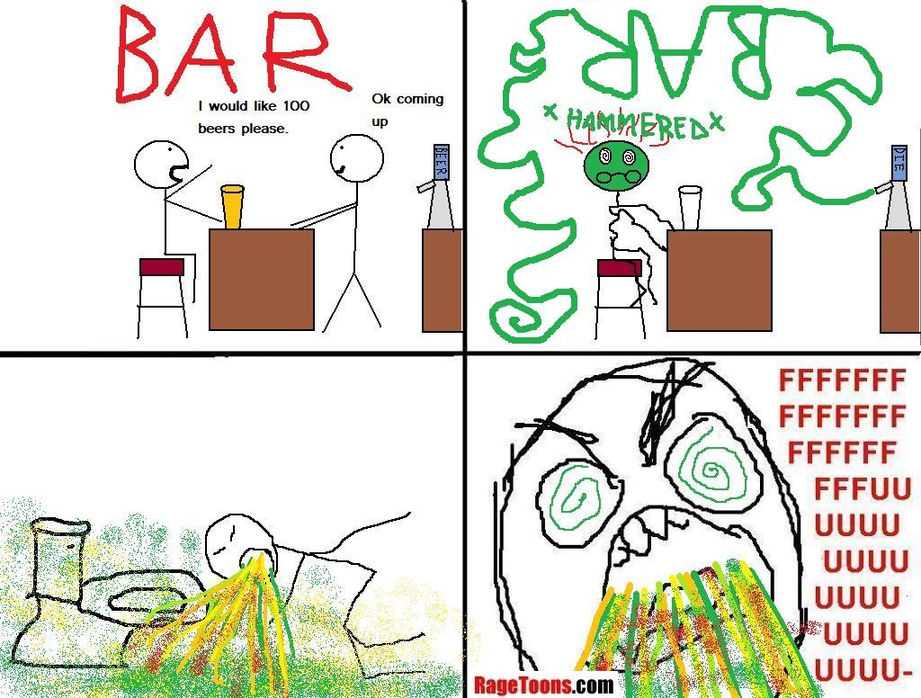 Getting Drunk Rage