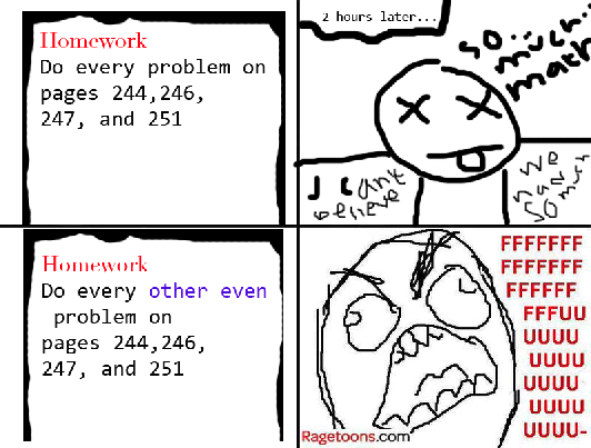 So Much Homework Rage