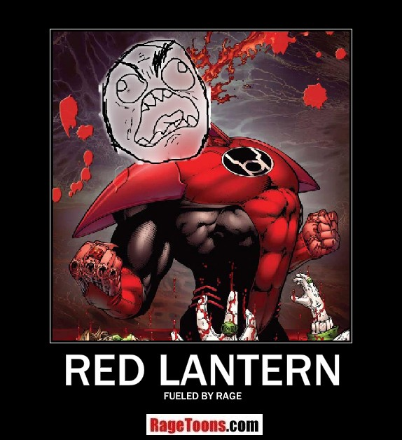 Red Lantern Fueled By Rage