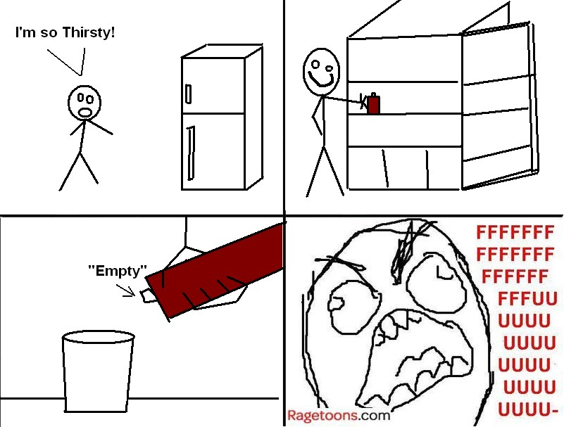 Thirsty Empty Juice Rage
