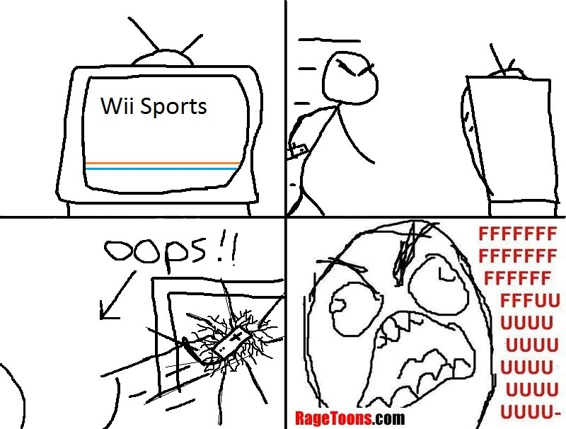 Too Much Wii Sports Action Rage