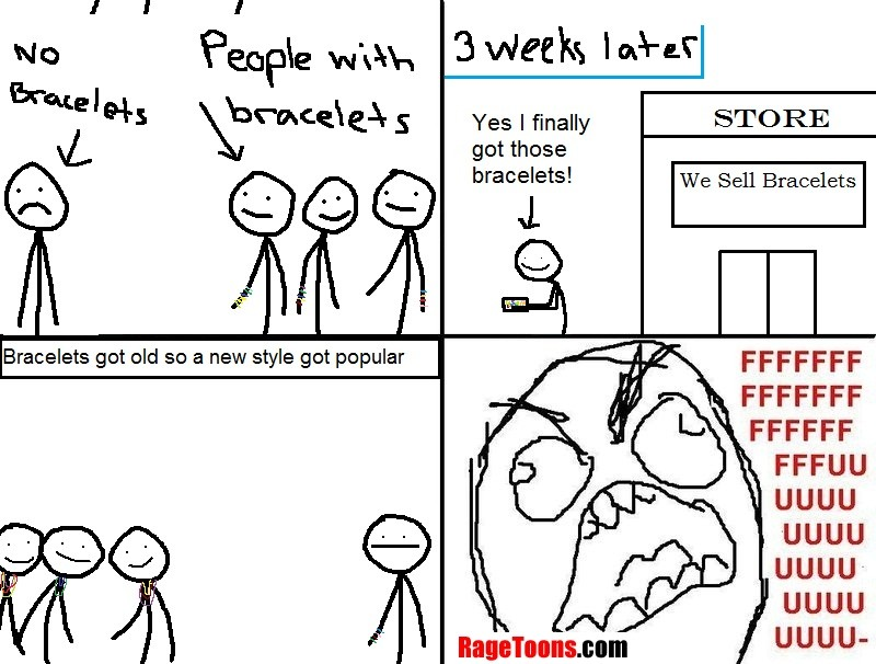 Fashion Bracelet Fad Rage