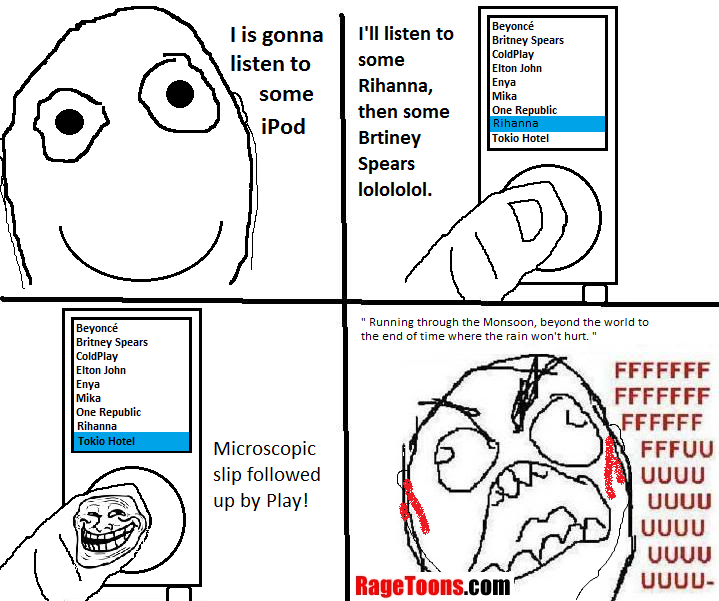 Ipod Microscopic Slip Rage