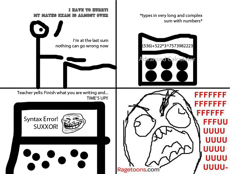 Last Second Syntax Error Rage