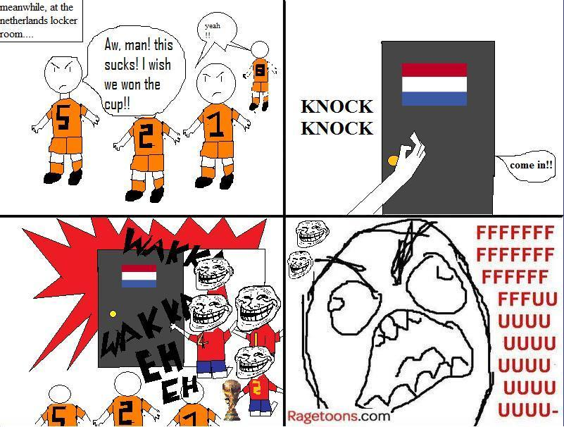 World Cup 2010 Spain Netherlands Rage