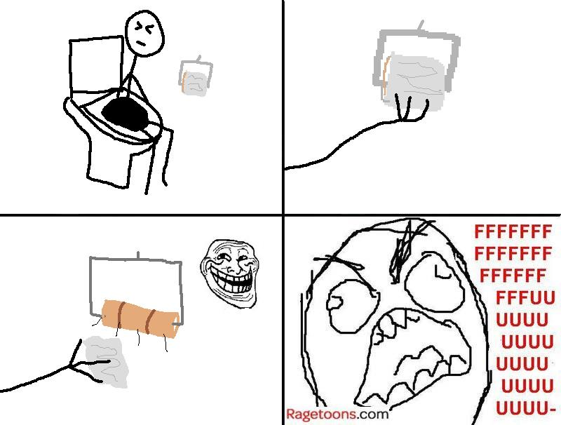 Toilet Roll Last Piece Rage