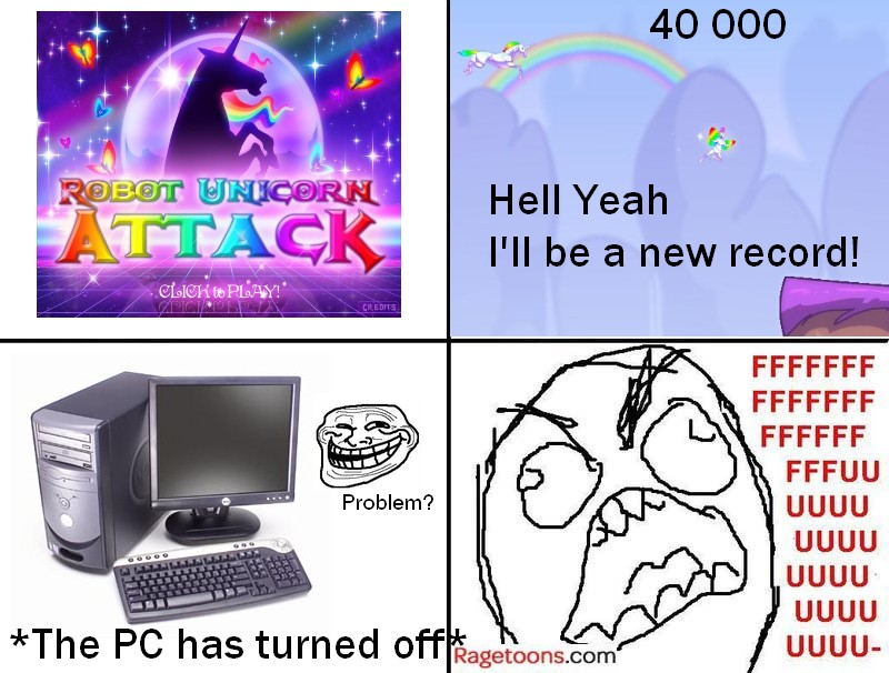 Robot Unicorn Attack Rage