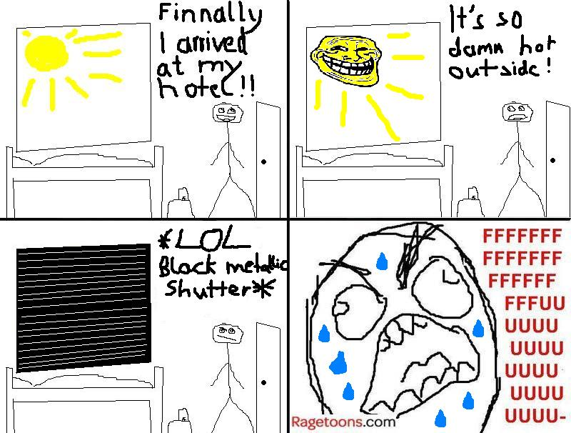 Black Metallic Shutter Rage