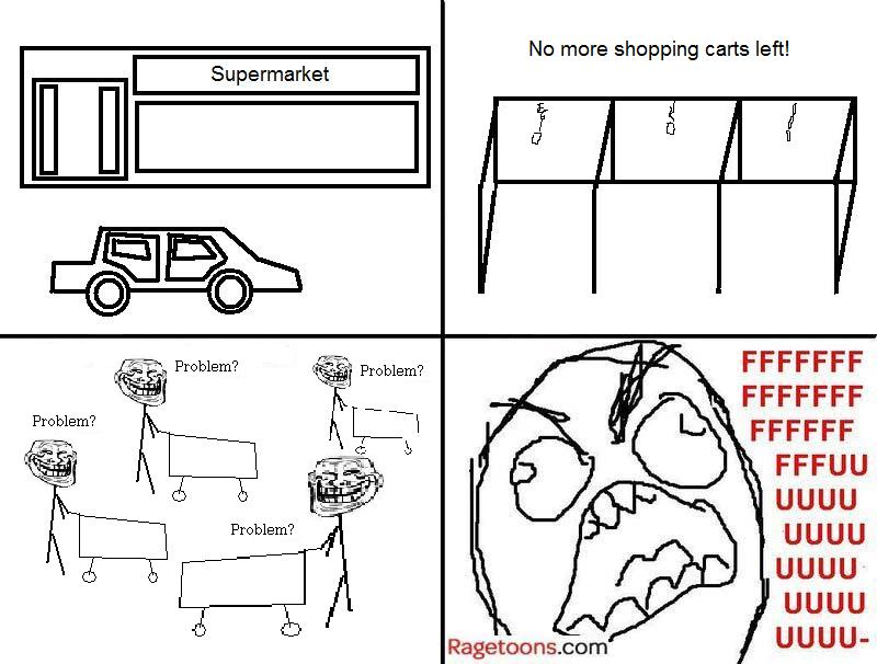No Shopping Carts Rage