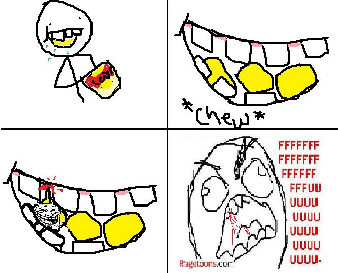 Chewing Stuck Gum Rage