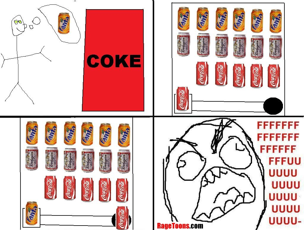 Coke Machine Wrong Drink Rage