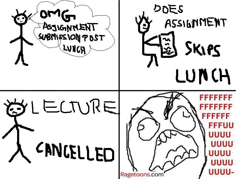 Skip Lunch Do Assignment Rage