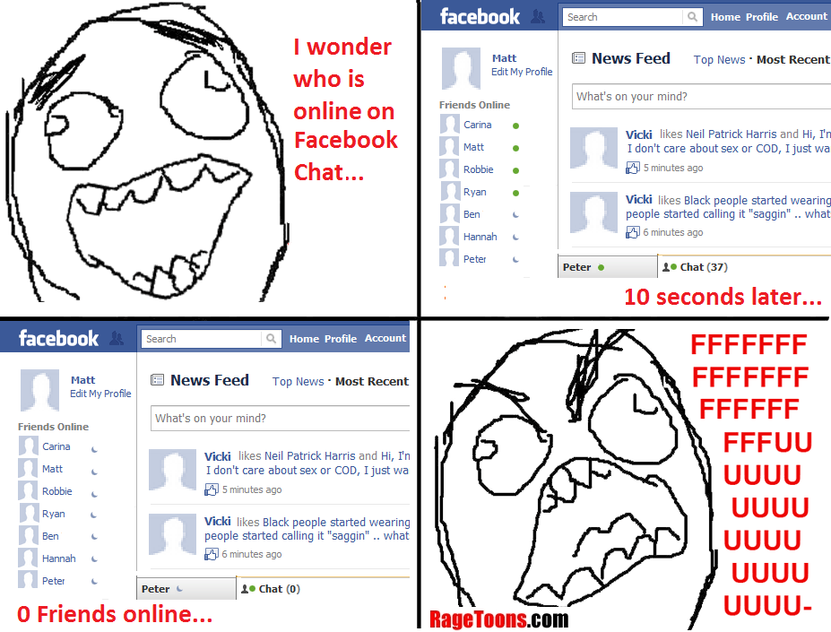 Facebook Chat Friends Online Rage