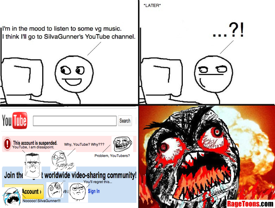 Youtube Account Suspended Rage
