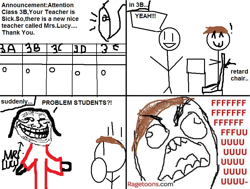 Replacement Teacher Rage