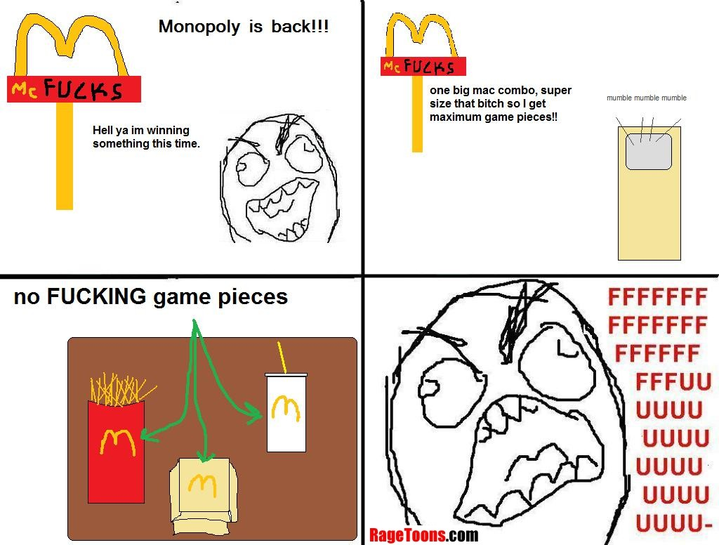 Monopoly Game Pieces Rage