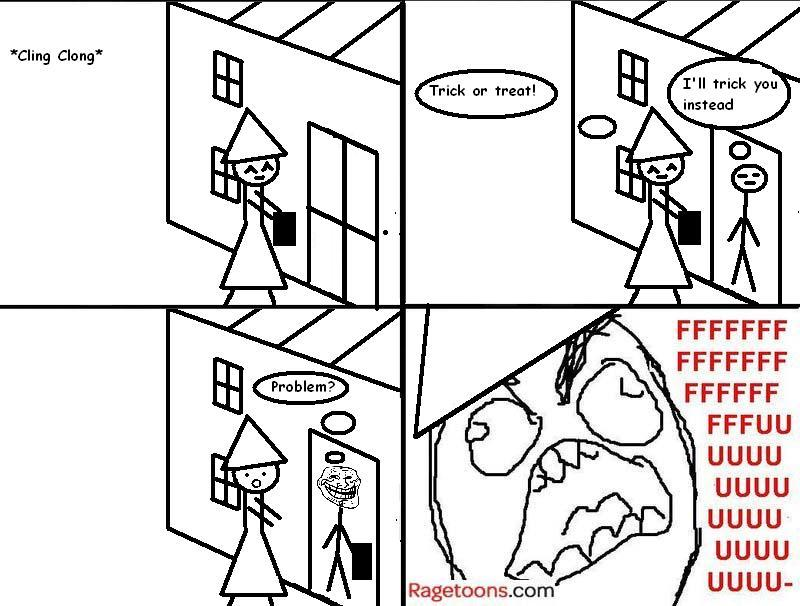 Trick Or Treat Troll Rage