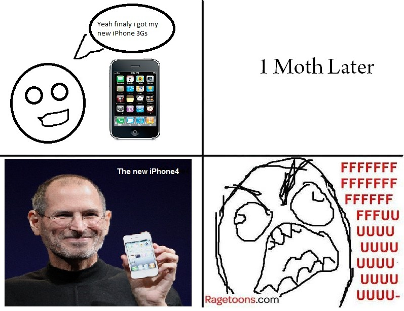 iPhone 3GS 4 Rage