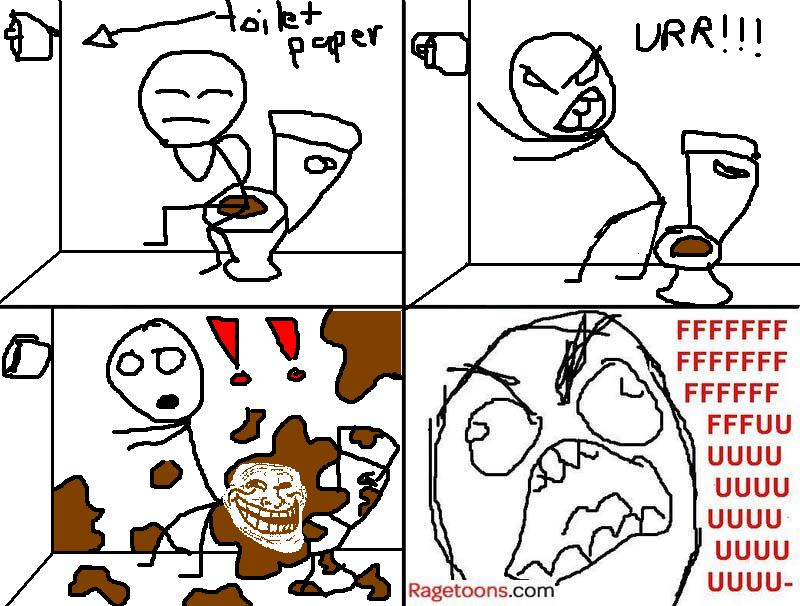 Reaching For Toilet Paper Rage
