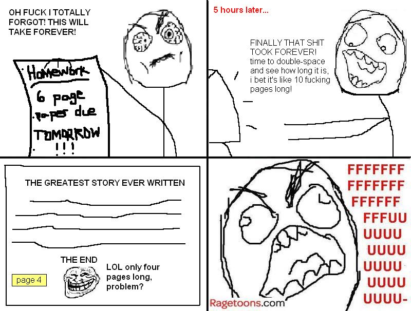 Long Paper Homework Rage