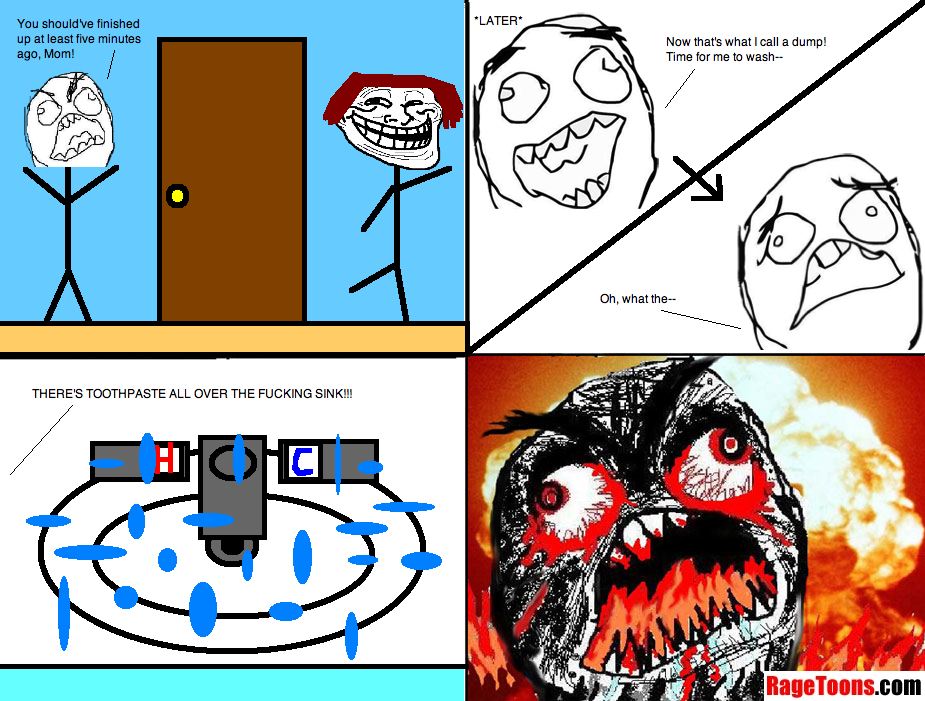 Toothpaste All Over Sink Rage