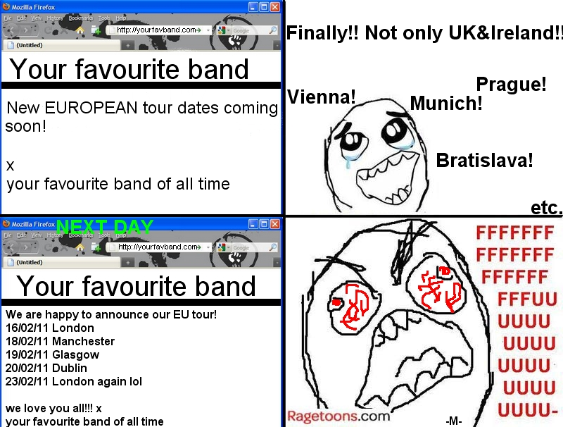 Band Euro Tour Rage