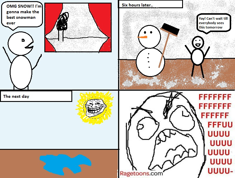 Melted Snowman Rage