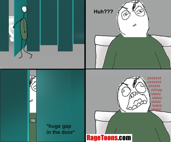 Toilet Cubicle Gap Rage