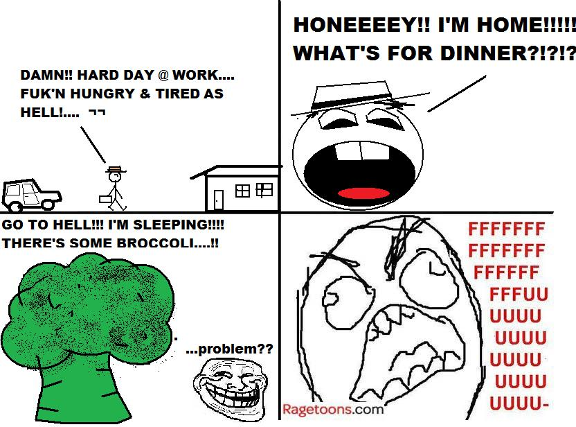 Broccoli Dinner Rage