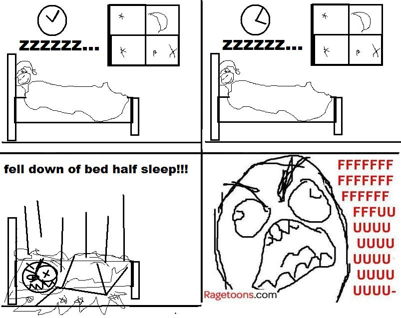 Falling Out Of Bed Rage
