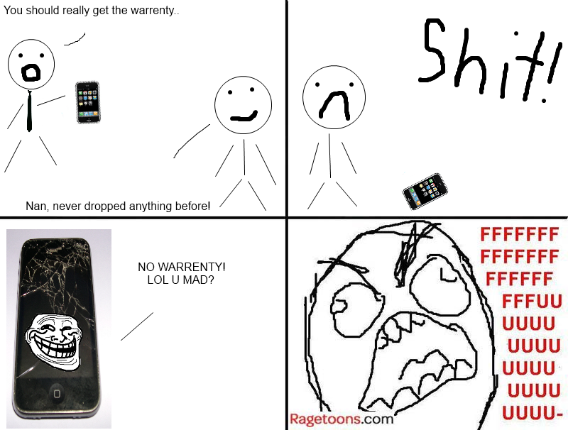 No Warranty iPhone Rage