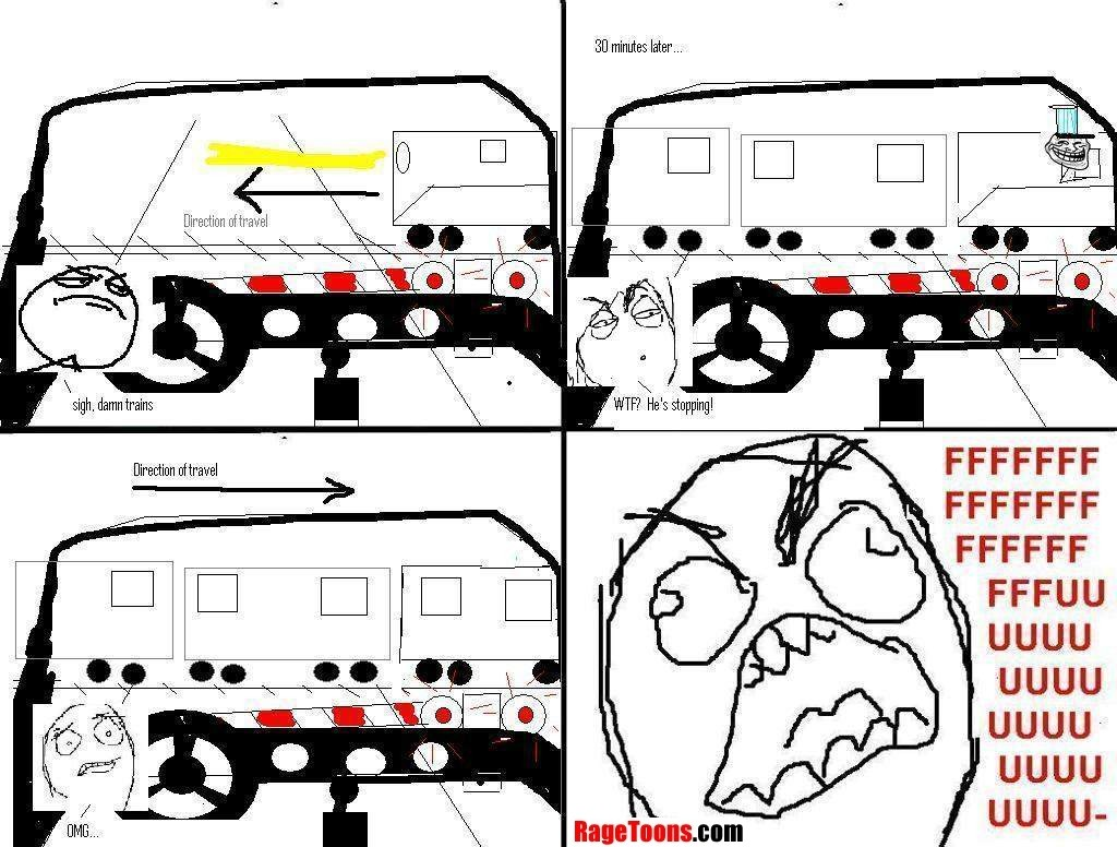 Traveling Train Rage