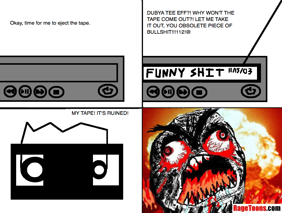 Damaged VHS Tape Rage