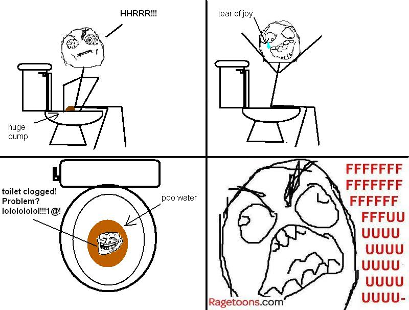 Toilet Clogged Rage