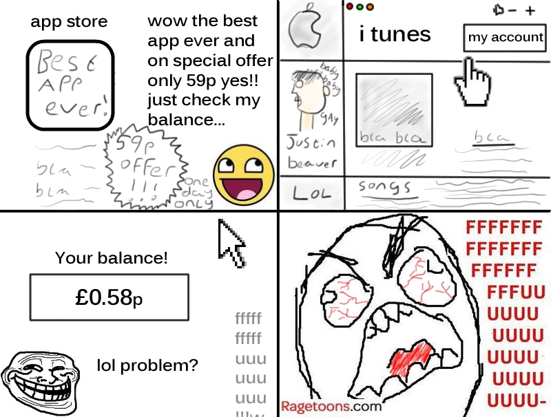Buying iTunes App Rage