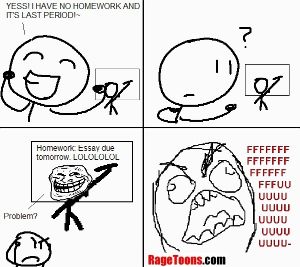 No Homework Rage